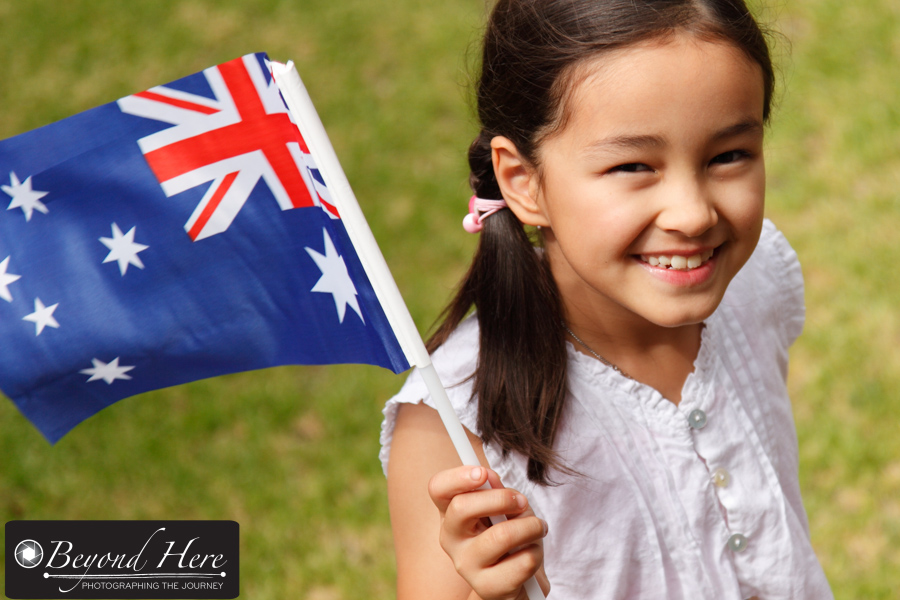 Girl with Australian flag