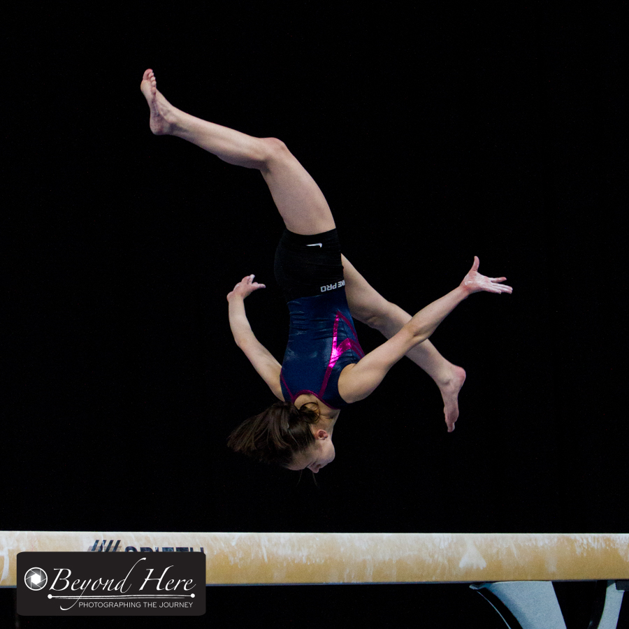 Gymnastics beam routine