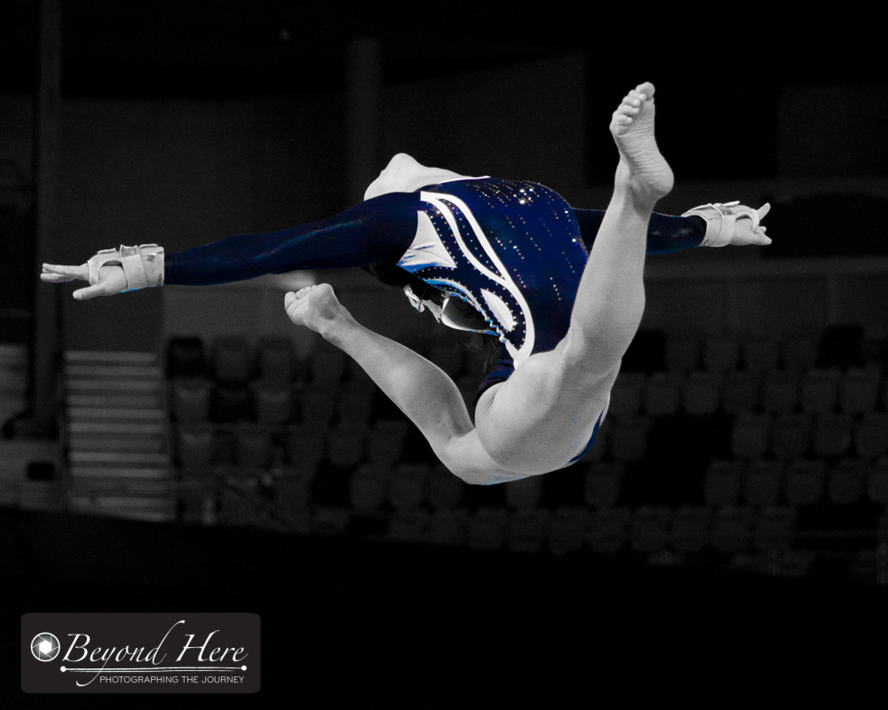 Gymnast doing split leap