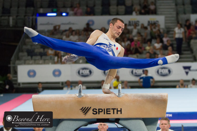 Gymnast on Pommel horse